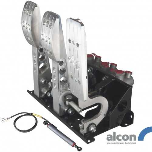 OBP Floor mounted pedal box 3 pedals Alcon cylindrar PRO-Race