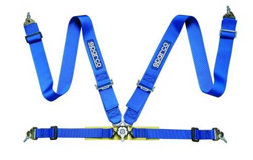 Sparco 4pt Safety harness blue