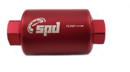 SPD Fuel filter compact 100 micron E85 red (pre-filter)